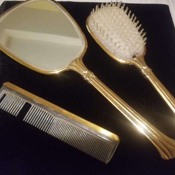 Vintage Makeup Vintage Vanity Set Mirror Brush And Comb Poshmark